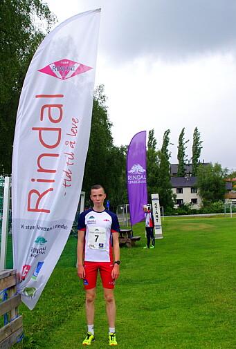 Magnus Øyen, Rindal IL tok lett sigeren på 1 km-løypa.