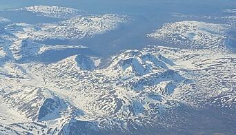 Flyfoto fra Trollheimen, tatt 1.juni