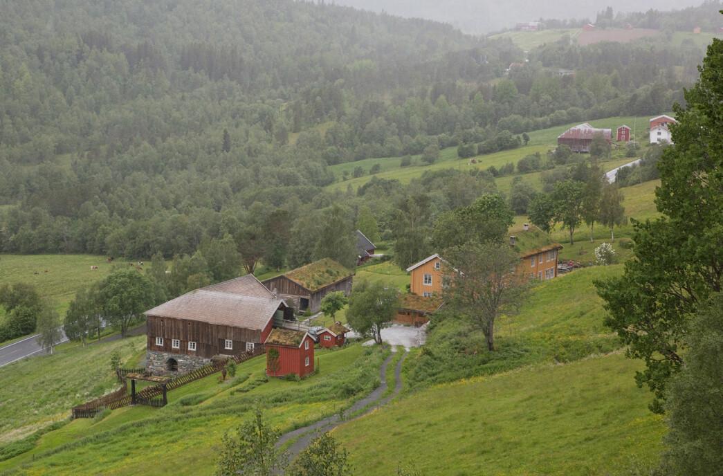 Vi parkerte ved Garberg og gikk først til Garbergsberget. God utsikt ned til Garberg fra toppen.