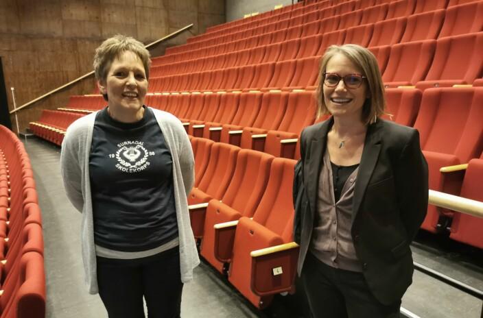 Vil ha nye medlemmer: Både leder i Surnadal Skolekorps Kristin Holten og leder i Kristiansund Skolekorps Bente Askestad jobber med rekruttering