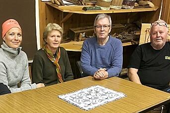 Styremedlemmane Gunnhild Vetleseter Bøe (frå venstre), Eli Moen, Bernt Bøe og Inge Dønheim har planene klare for museumsdagar også i sommar.