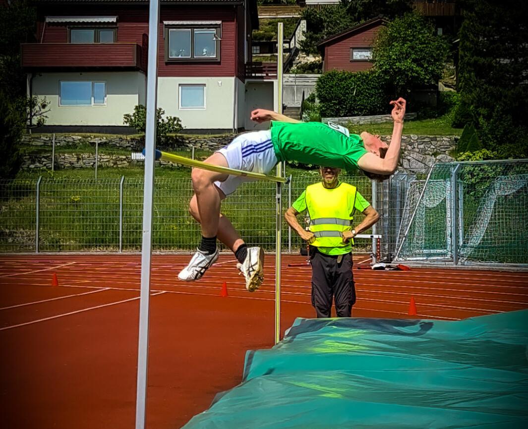 Sondre Andersen. Gullmedalje i høydehopp med 1,64.