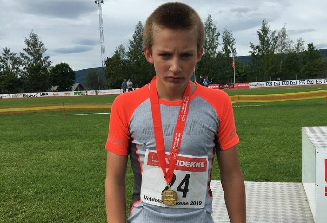 Abel Sæterbø Raaen tok gull på 600 m. Akkurat som i 2019, som dette bildet er fra!