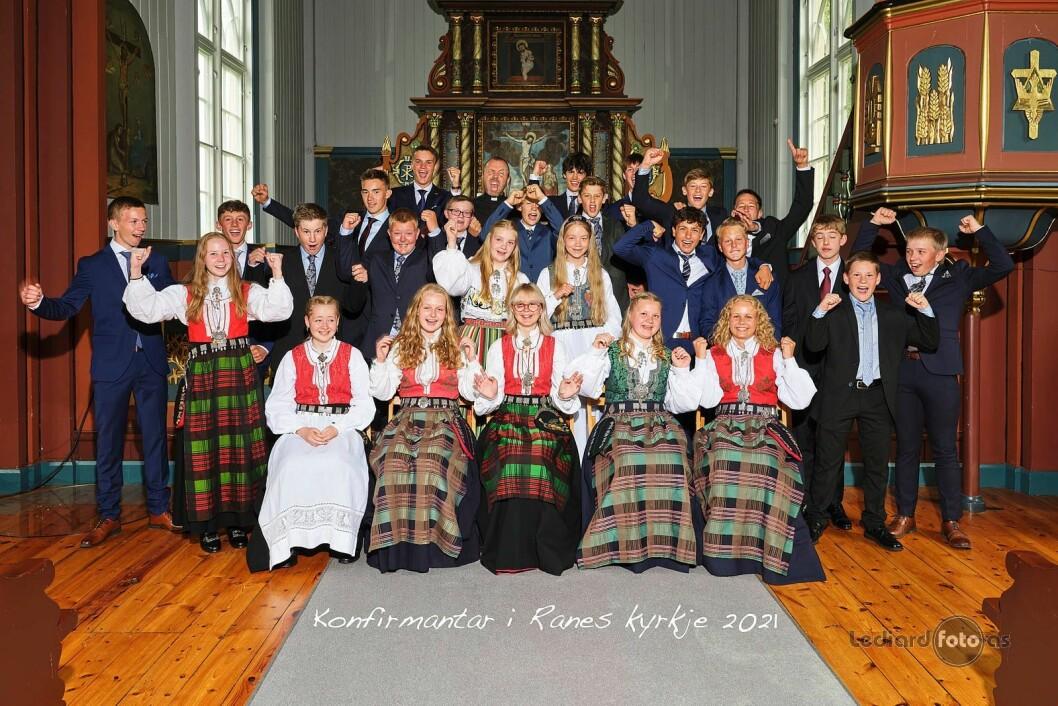 Konfirmantane i Ranes kyrkje 2021