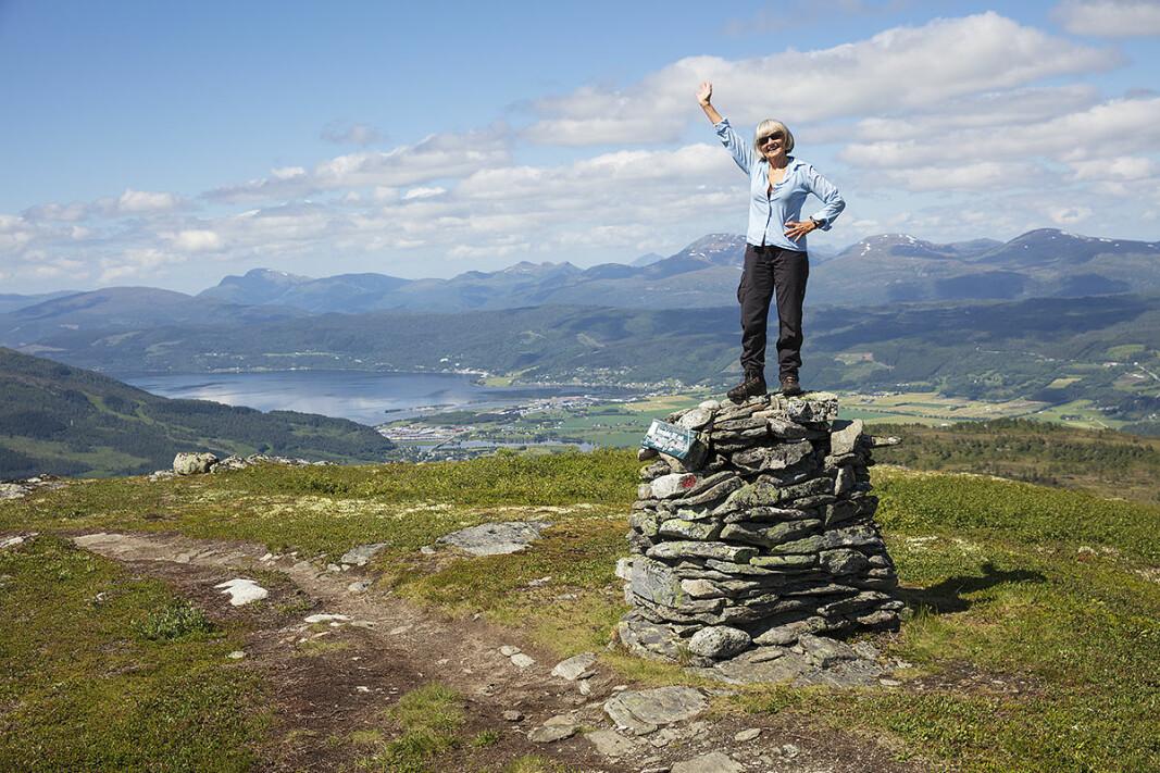 Til topps på Svarrafjellet.