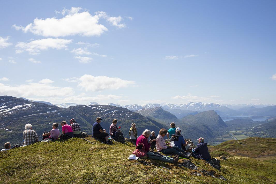 Matpause på Svarrafjellet.