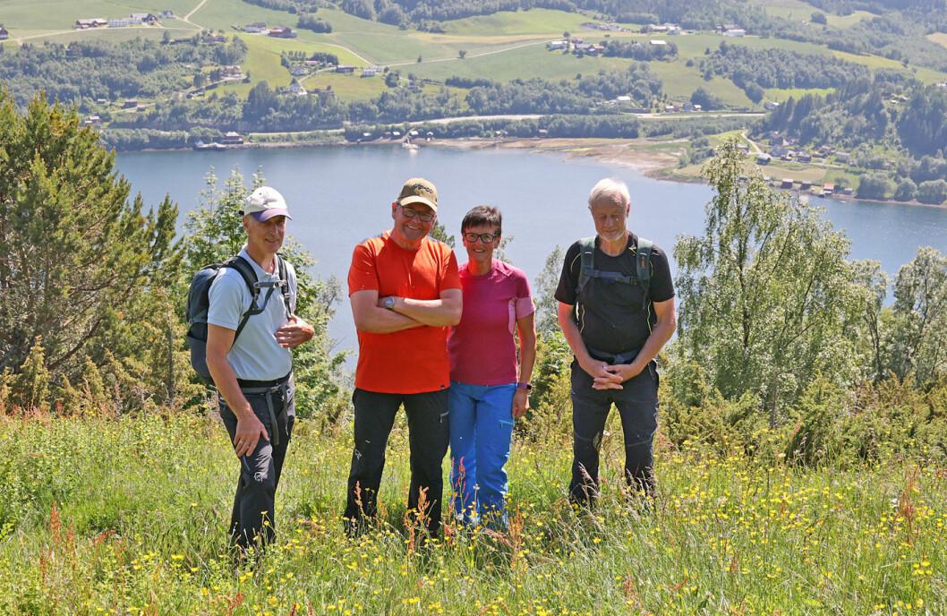 En sprek kvartett i blomsterenga. Rart å tenke på folka som engang bodde på denne spektakulære plassen høyt over Vinjefjorden.