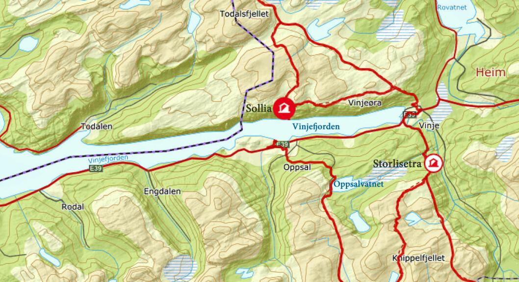 Vi var ute i sju og en halv time, og tilbakela rundt 16 km. En lang og fin fjelltur!