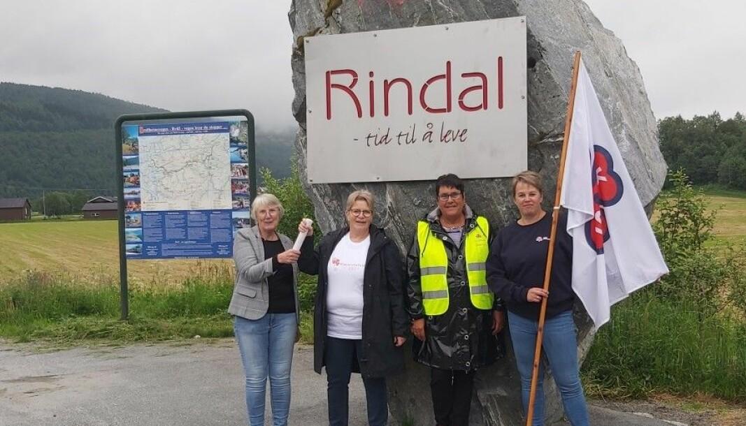 F.v. May Britt Hollås, Kari Moe, Solveig Fosseide og Elinor Bolme.