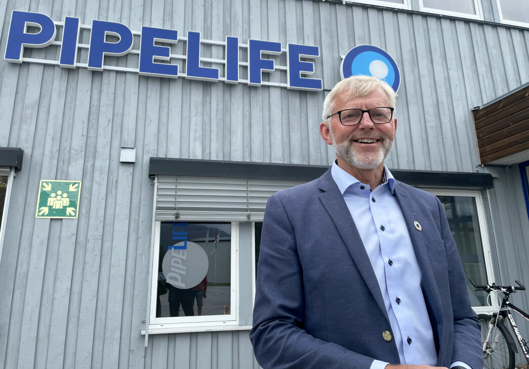 Kjell Johan Larsen er nå pensjonist, etter 41 år i selskapet som nå heter Pipelife Norge.