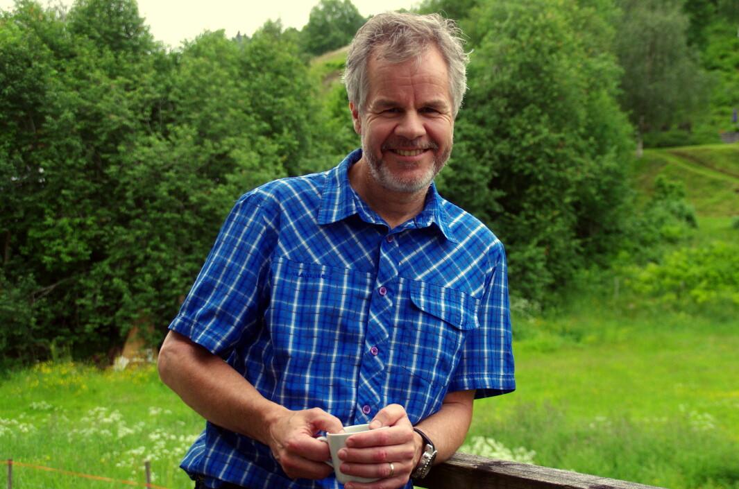 Vi måtte ha eit bilde av fjellklatraren Olav Storli Ulvund i friluft!