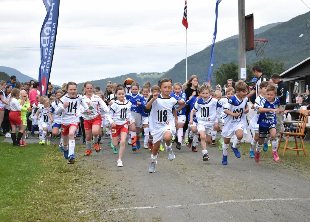 Miniræta er et populært innslag på Todalsdagen