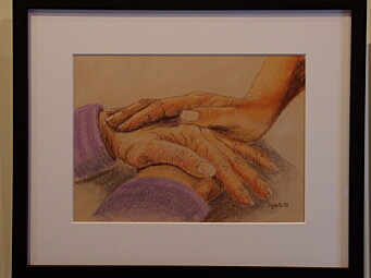 Eit av Ingas bilde av hender.