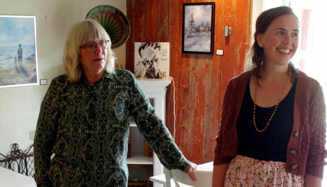 Mie Sandø introduserer Kulturvøkkukunstnaren Synøve Daaland på 3 Venner.