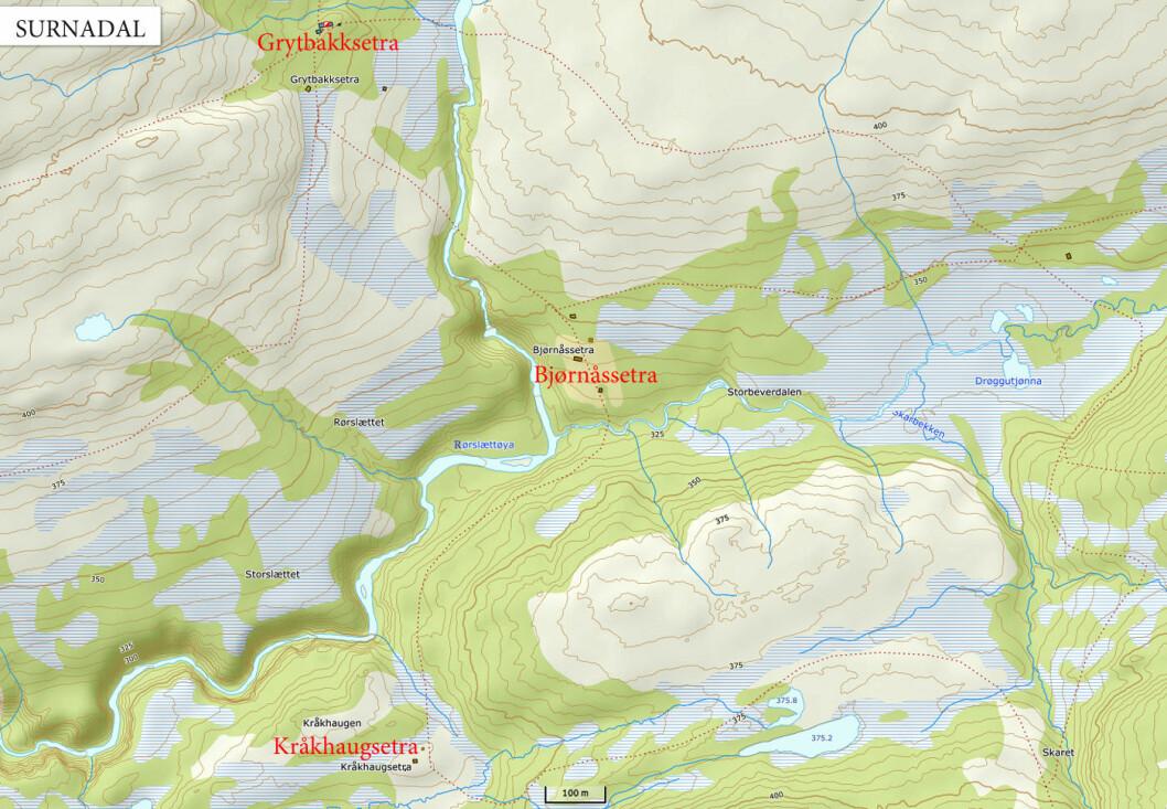 Dagens plan var å oppsøke tre rindalssetrer i Surnadal, øverst i Bøverdalen. Og det gikk som planlagt.