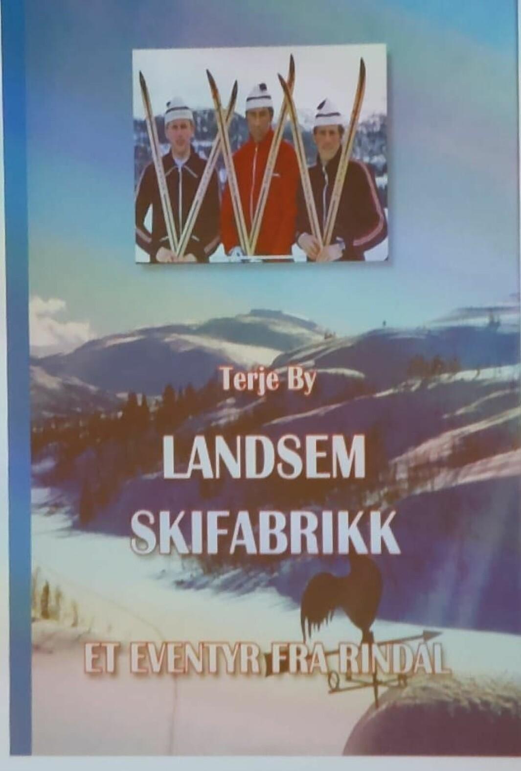 Omslaget til boka om Landsem skifabrikk