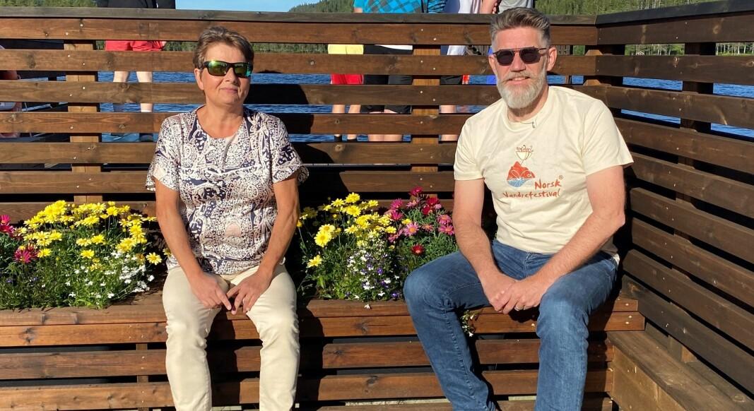 Styreleder i Norsk vandrefestival Lilly Gunn Nyheim og daglig lederTom Godtland ønsker tips til årets æresvandrer.