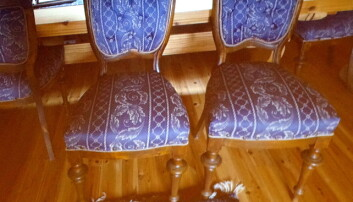 Fine stolar som antakeleg kom frå Brittannia i Trondheim.