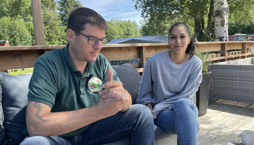 Gerald og Firdauce Grewe er klare på at det er campingdrift som er hovedinntekten deres, og at kundegrunnlaget vil falle bort dersom det skulle vært offentlig gangvei gjennom campingplassen.