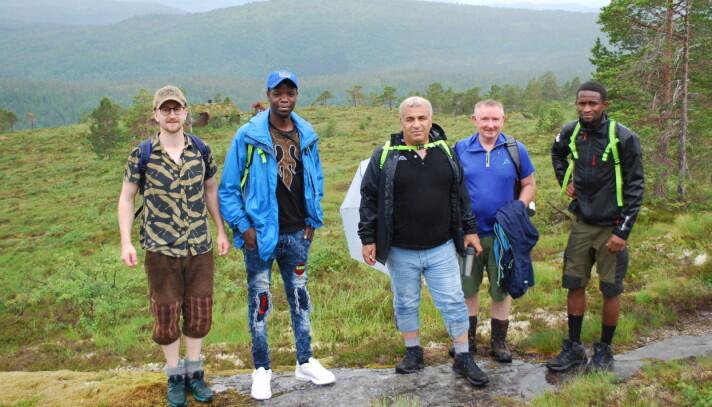 Magnus Nyheim, Mariseri Niyonsaba, Adnan Albakri, Trygve Roaldset og Alieu Badjie