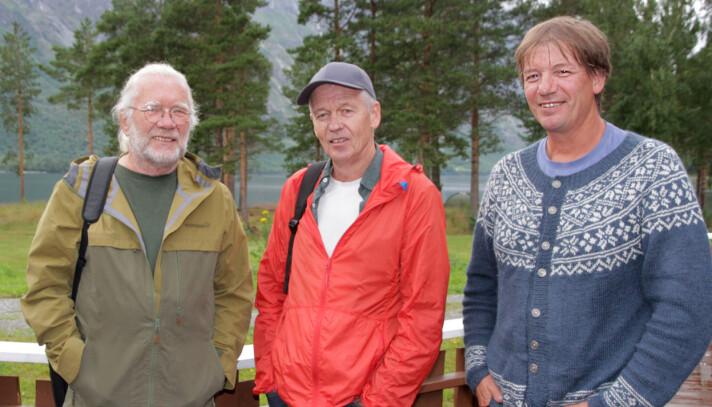 Carsten Andersen (f.v., scenografi), Lars Ramsøy-Halle (musikk) og Svein Sæter (tekst) sto bak musikalen «Stjernestøv». Alle er involvert når konserversjonen har premiere 5. august.