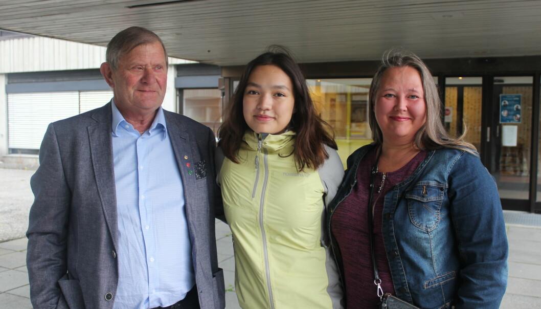 Reidar Brøske, Emily Stangvik og Annette Ranes