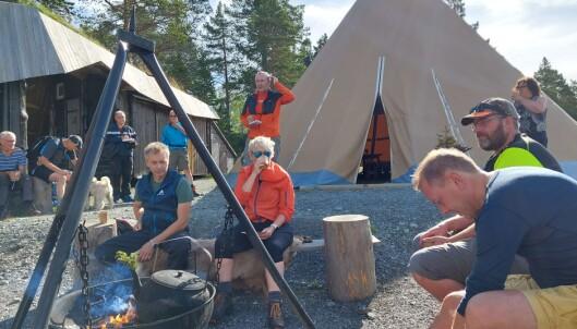 Baard Gåsvand fortalte om Turstigruppa Rindal IL sitt arbeid.