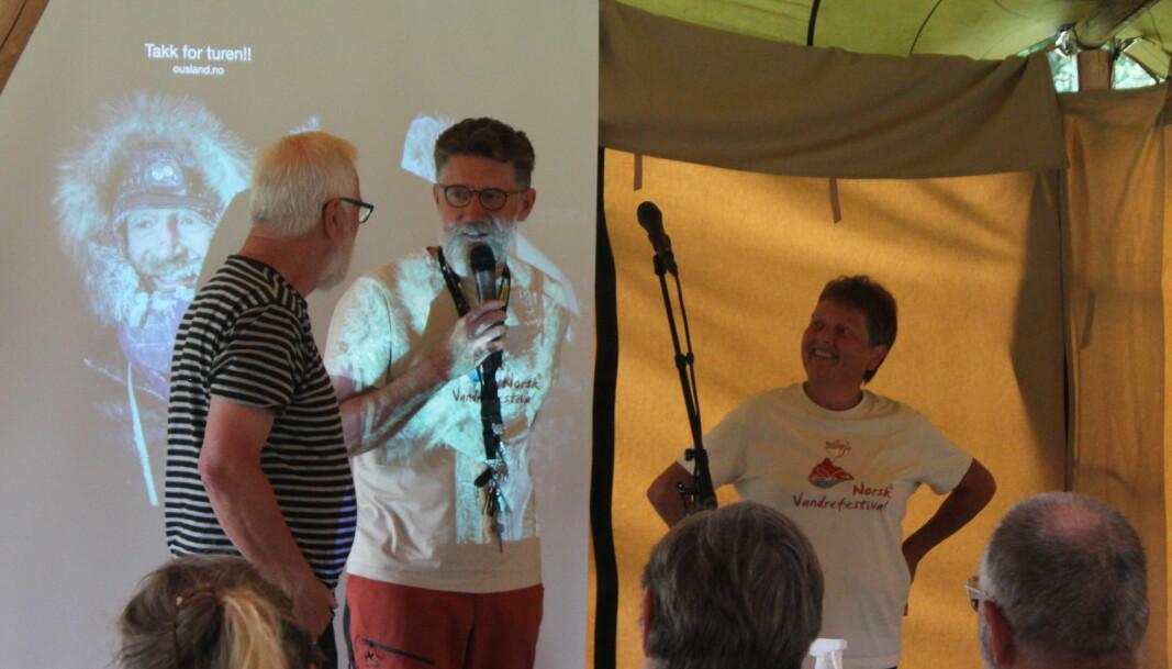 Magnar Dalsegg, Tom Godtland og Lilly Gunn Nyheim setter stor pris på støtten festivalen har fått
