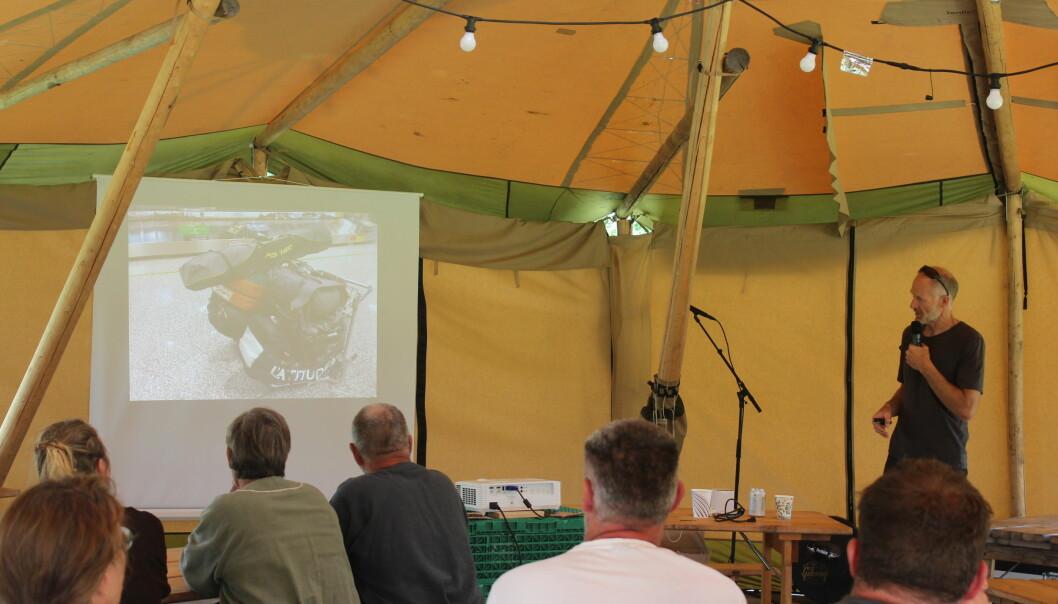Med foto fra turene ble foredraget en visuell opplevelse