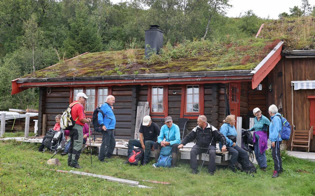 Her har vi kommet til den andre Espåssetra. Ypperlig plass for en lang matpause.