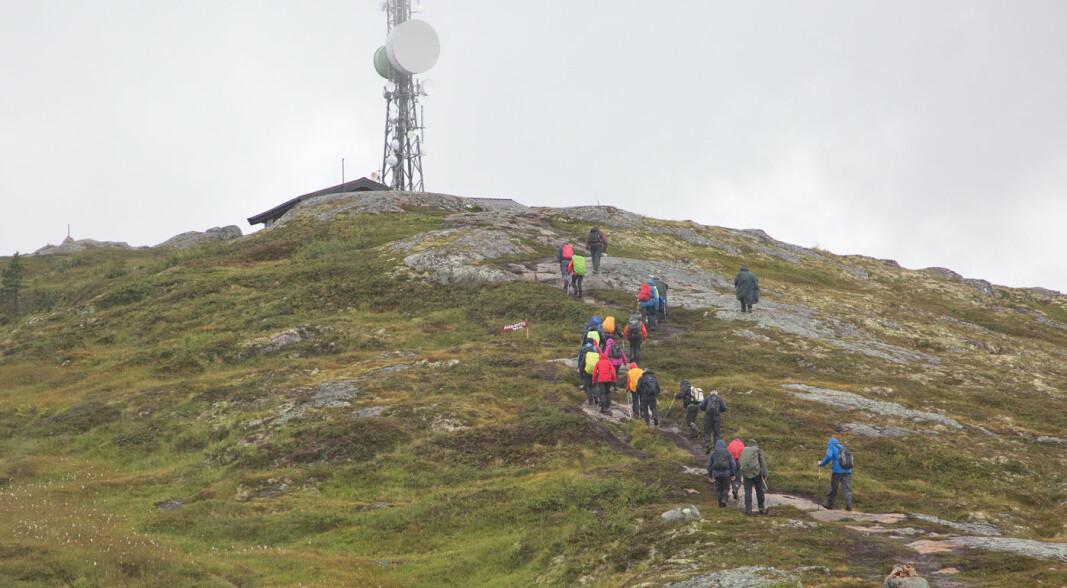 Gjømshøgda strekker seg 635 moh. Ser veldig langt herfra når det er fint og klart vær.