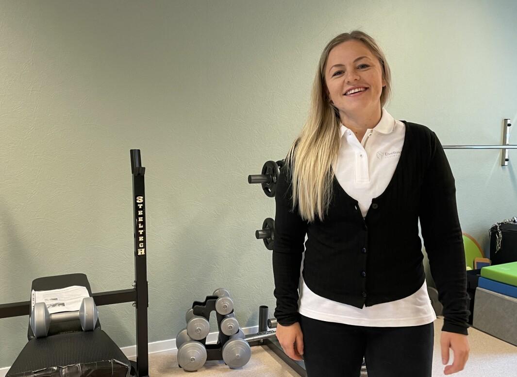 Ingrid Kvendset Ulset ønskjer kundane velkommen til Elvebakken Fysioterapi, som opna i dei gamle lokala til Lunds Fysioterapi onsdag 25. august.