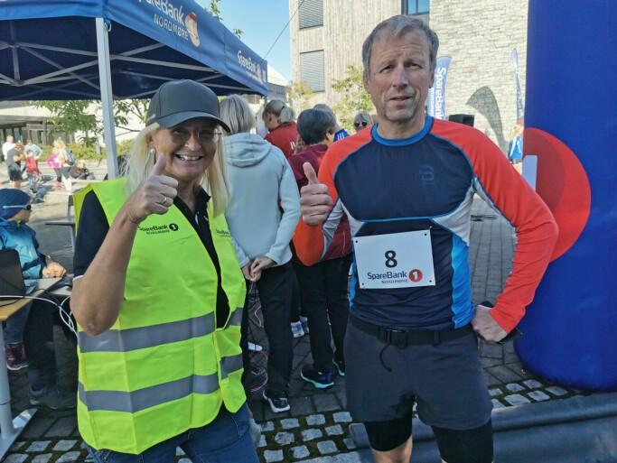Hans Mellemsæther lanserte ideen om et løp i Surnadal. Her sammen med Liv Dalsegg