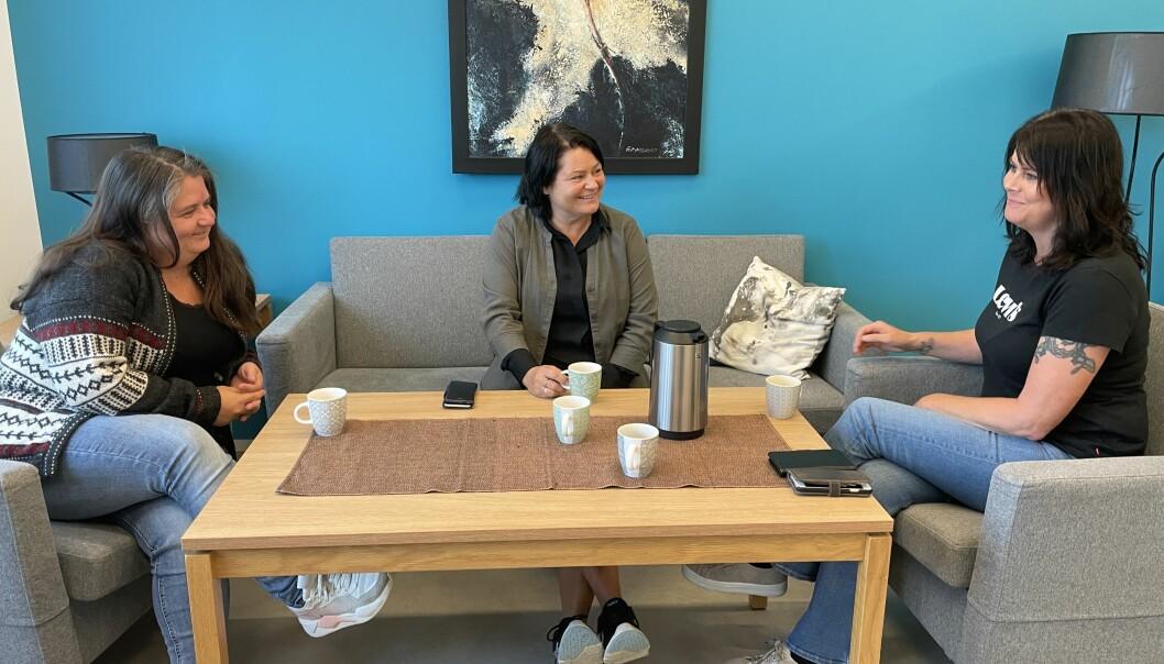 Camilla Hyttebakk (f.v.), Hege Kvendset og Linda Margareth Øye.
