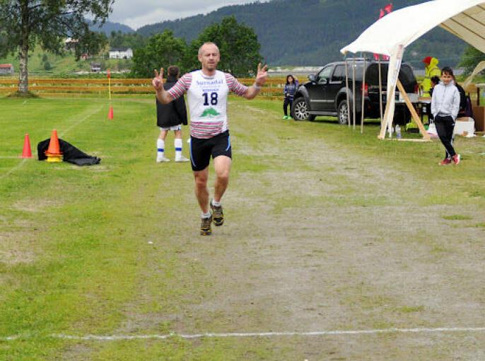 Halvor Drøpping ble nummer 4 i sin klasse. Her fra mosjonsløpet Ræta Opp i Todalen.