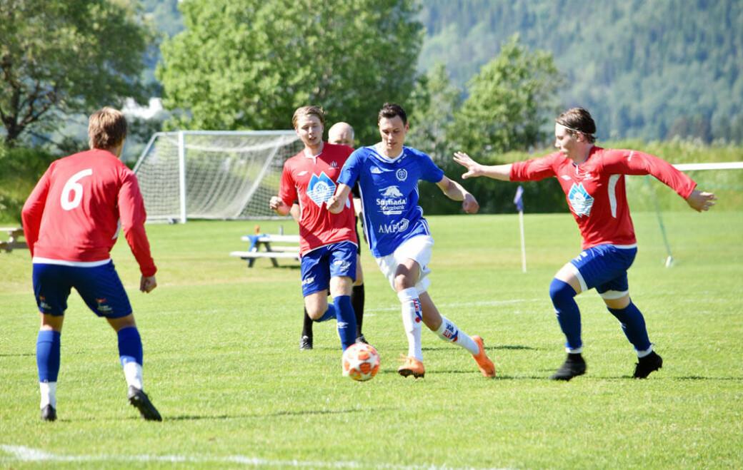 Sander Smevoll scoret hat-trick i søndagens bortekamp mot Vestnes Varfjell (arkivfoto fra 2019)