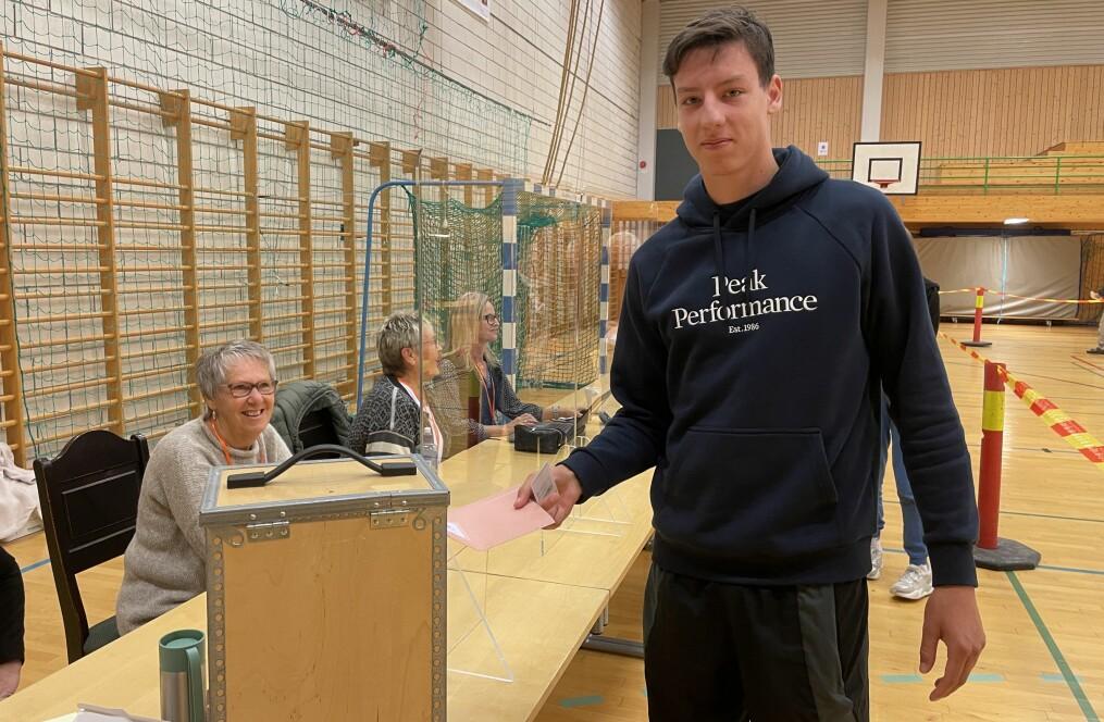 Viljar Fiske Kvande leverer si første stemme.