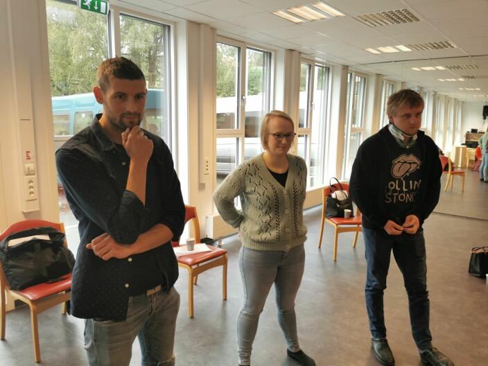 Full konsentrasjon: Gøran Bolme, Ragnhild Mogstad og Lasse Løfaldli