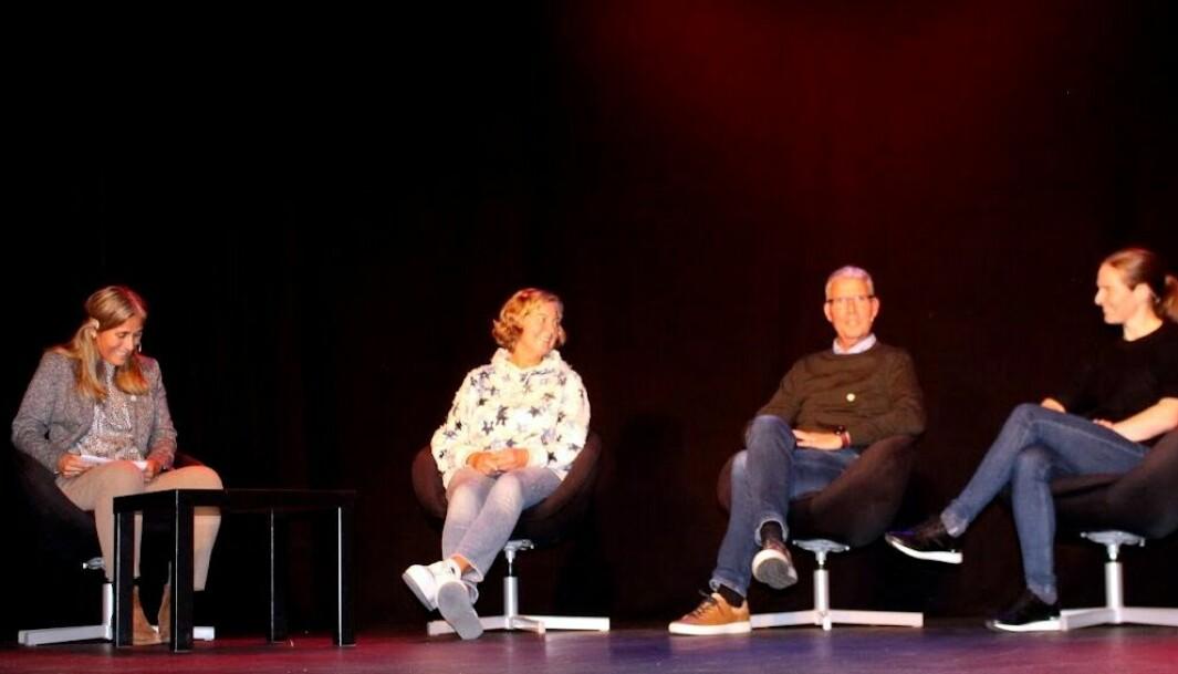Ingvil Snøfugl (t.v.) leda samtalen mellom Berit Svendsen, Bård Benum og Kristin Mürer Stemland.