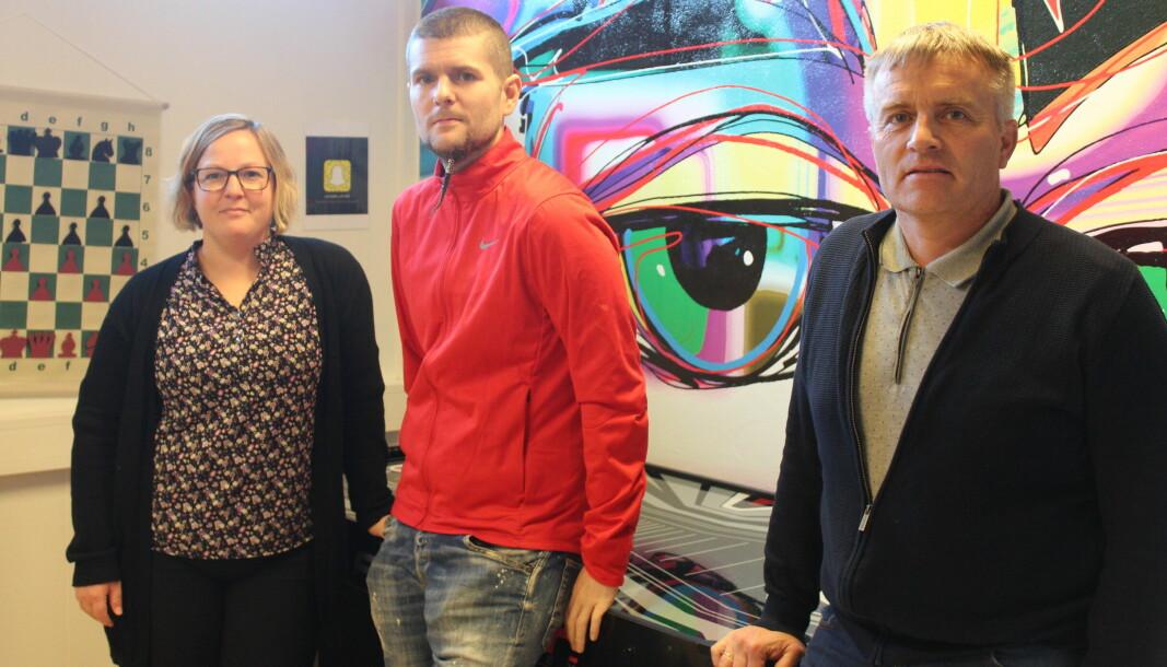Hilde Staveli Solli, Petter Forberg og Kåre Herrem