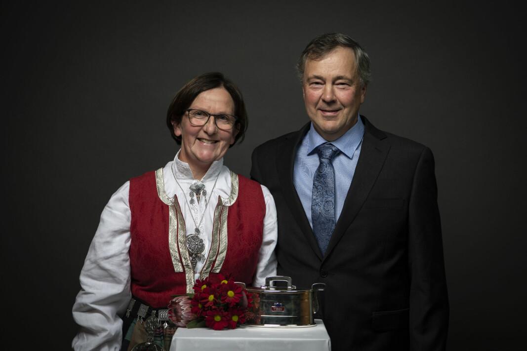Ingrid Løfaldli og Leif Magne Rindalsholt.