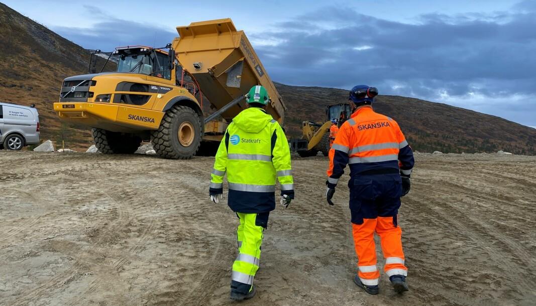 Anleggsarbeid Folddalen oktober 2021