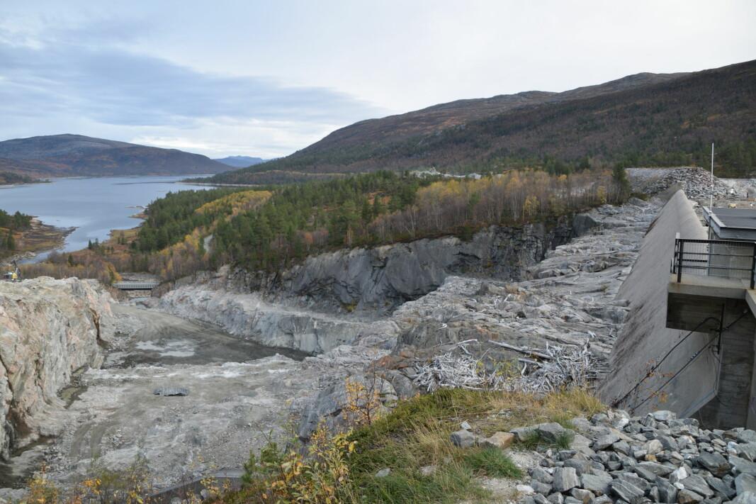 Steinbruddet ved Gråsjødammen.