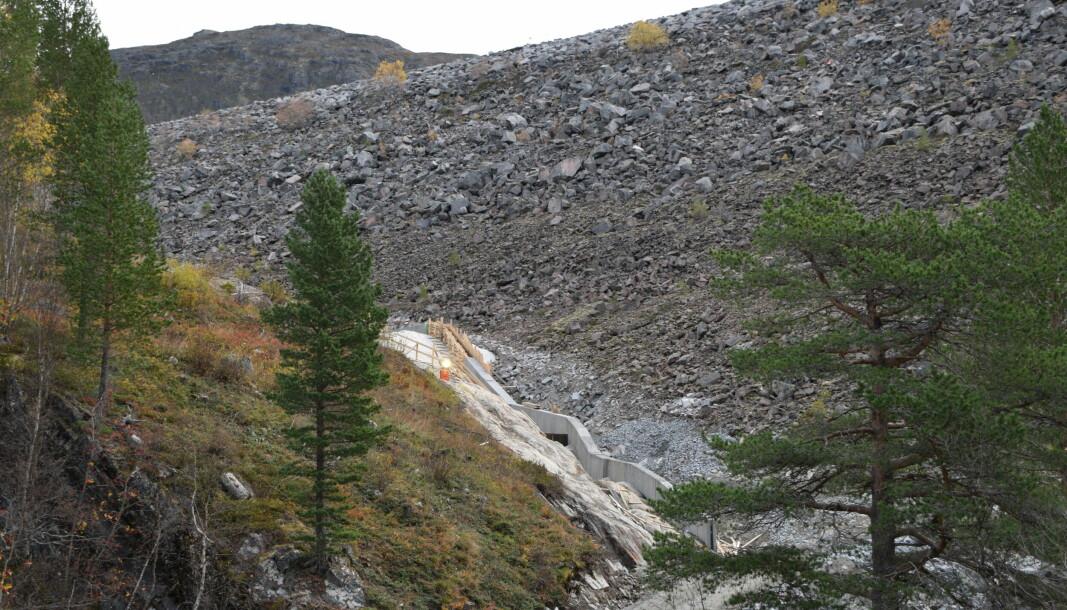 Ledeveggen ender opp nede ved Gråsjø kraftverk.