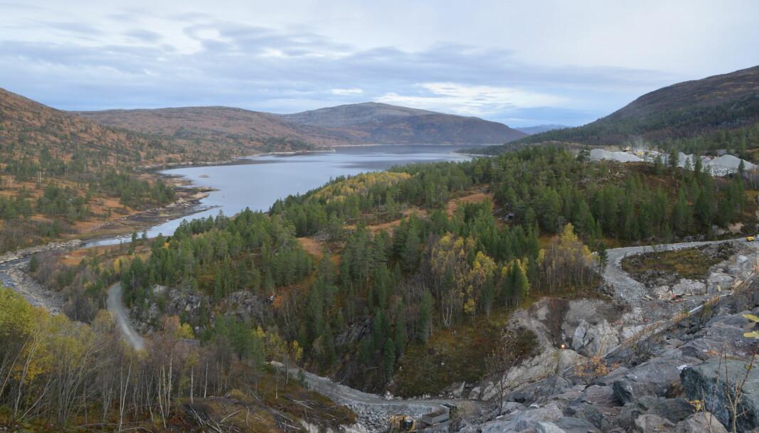 Utsikt over Foldsjøen fra Gråsjødammen.